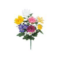 造花ボンバナブッシュ仏花 墓地 装飾 洋風 シルクフラワー 高品質