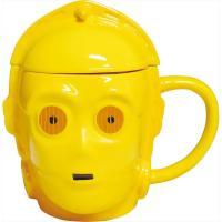 スターウォーズの人気者、お茶目なアンドロイドC-3POのマグカップ! 磁器ながら頭の突起までしっかり...