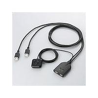 即納 エレコム キーボード・マウス用 パソコン切替器  KM-A22BBK  KM-A22BBK