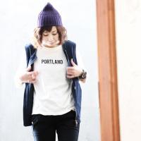 (アリュメール) ALLUMER日本製 ロゴプリント 七分袖 カットソー  Tシャツ ロンT 柔らかコットン生地