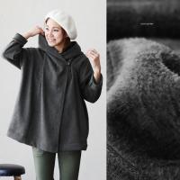 r160622005 [商品説明] 身幅126cmのゆったりしたサイズ感で作られたラップコートになり...