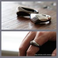 r161010003 [商品説明] アンティーク調の錆びついた風合いの真鍮。 18〜19号程度の大き...