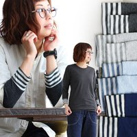 r161209008 [商品説明] ・重ね着が可愛く仕上がる、人気の袖口ボーダー切り替えデザイン。 ...