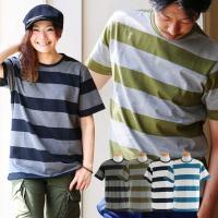 r170518017 [商品説明] ・シンプルな中にも存在感のあるワイドピッチボーダーTシャツ。 ・...
