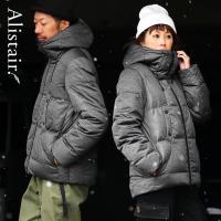 ダウンジャケット メンズ ボリュームネック フード付き 冬 軽量 保温  メンズ レディース ALISTAIR(予約販売)(先行予約特典)