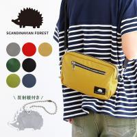 SCANDINAVIAN FOREST ミニショルダーバッグ 鞄 BAG 斜め掛け ワンポイント ナイロン カジュアル レディース メンズ