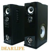 ■大迫力の重低音サウンドをご家庭で!■高音・低音調整機能つき■オーディオ端子入力でテレビやコンポに簡...