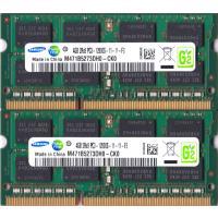 SAMSUNG PC3-12800S (DDR3-1600) 4GB x 2枚組み 合計8GB SO-DIMM 204pin 両面実装 (2Rx8)の2枚組 ノートパソコン用メモリ 動作保証品