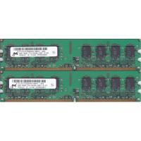 ●MicronのPC2-6400U (DDR2-800) 2GB x 2枚 = 合計4GBの中古品で...