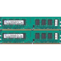 SAMSUNG PC2-6400U (DDR2-800) 2GB x 2枚組み 合計4GB 240pin DIMM 4G Kit デスクトップパソコン用メモリ