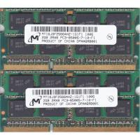 Micron PC3-8500S (DDR3-1066) 2GB x 2枚組み 合計4GB SO-DIMM 204pin ノートパソコン用メモリ 動作保証品