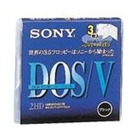 3MF2HDQDVB 3.5インチFD 3枚パック ハンディーケース入り DOS/Vフォーマット済み...