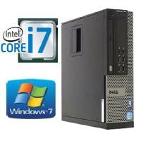 DELLの最高峰Core i7を搭載したビジネスデスクトップパソコン。本体が小さく場所をとらない省ス...