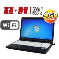 ノ−トパソコン 富士通 ●CPU:Celeron B710(1.6GHz) ●メモリ:4GB ●HD...