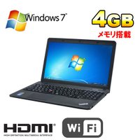 ノートパソコン ●CPU:Celeron 2950M(2GHz) ●メモリ:4GB ●HDD:320...