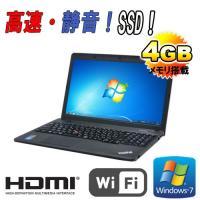 ノートパソコン ●CPU:Celeron 2950M(2GHz) ●メモリ:4GB ●HDD:SSD...