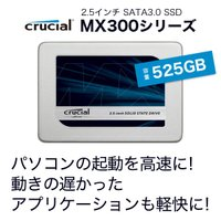 Crucial(by Micron) SSD  □ 容量:525GB □ 2.5インチフォームファク...