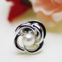 ●素材 アコヤ本真珠:約4.5mm (ホワイト) (ラウンド) ●大きさ ブローチ:約1.3cm×1...