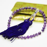 ●素材 アメシスト(紫水晶):約8.0mm ●長さ  (36粒) ●重量 念珠・数珠:約37.3g ...