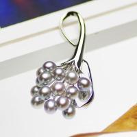 ●素材 淡水真珠:約6.0-6.5mm (グレー) (ライス) ●大きさ ブローチ:約55x30mm...