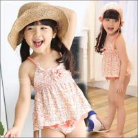 ●商品コード:73FTZ11  ●商品名:キッズ 水着 女の子 セパレート お花 カラフル パンツ ...
