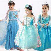 子供ドレス ジュニア ドレス エルサ風 コスプレ衣装 コスチューム ドレス プリンセスドレス フォー...