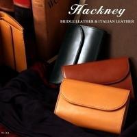 イギリスの伝統的な希少革「ブライドルレザー」と上質なイタリアンレザーを使用したハックニーの三つ折財布...