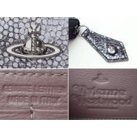 Vivienne Westwood ヴィヴィアンウエストウッド 321340 BLACK VERONA オーブ プレート付き 型押し メタリック ブラック系レザー ラウンドジッパー 長財布