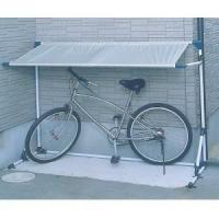 建物の軒下等に置く自転車や原付バイクを雨から守る便利なサイクルガレージです。建物の壁側にサイクルガレ...