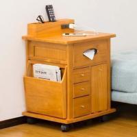 整理収納アドバイザー監修商品。 ベッド周辺の必要な物が1ヶ所にまとまり、コンセント付で充電もでき、ラ...