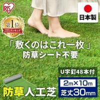 人工芝 ロール 2m×10m DIY 庭 ロール 2m 芝生 国産  リアル人工芝 防草人工芝 2m×10m 芝丈30mm RP-30210 アイリスソーコー