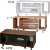 一人暮らしの方にちょうどよいサイズのテレビボードです。他の家具ともコーディネートしやすいシンプルなデ...