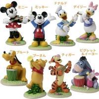 ディズニーの人気キャラクター達がお庭で楽しい演奏会♪ 生き生きとしたキャラクターの表情が魅力の音楽隊...