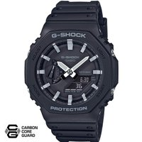 "CASIO ""G-SHOCK"" GA-2100-1AJF ブラック(ホワイトインデックス) [カシオ Gショック カーボンコア ] ギフト 国内正規品"