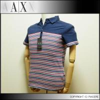 アルマーニエクスチェンジ(AlX)のポロシャツ! バックのロゴがワンポイント!トリコロールカラーのボ...