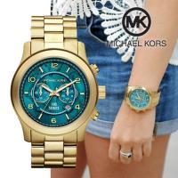 ■モデル:MK8315 ■カラー:  ダイヤル:ターコイズブルー  バンド:ゴールド ■サイズ:ケー...