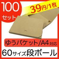 ゆうパケット用ダンボール A4 30mm クリックポスト対応 梱包用 100枚セット ダンボール箱 段ボール 日本製 梱包箱 ダンボール箱