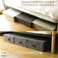 ベッド下のスペースにピッタリな折りたたみ式のおしゃれでかわいいベッド下収納ボックス★ 取っ手が2か所...