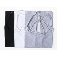 レディースファッション 4つライン 細紐 キャミソール トップス インナー 無地#ブラック