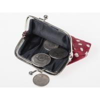 可愛い 小さい水玉 ドット柄 レディース 女性用 がま口 財布 小銭入れ ミニポーチ#パープル