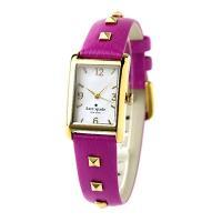 ケイトスペードからお洒落な腕時計を入荷しました♪パープル系カラーのレザーにゴールドのスタッズがあしら...