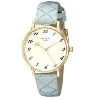ケイトスペードから新作腕時計をアメリカにて買い付けました!お洒落なキルトレザーのベルトにシンプルな文...