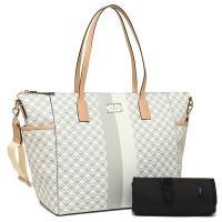 ケイトスペードの超レアなマザーズバッグを入荷*スペードの総柄デザインにセンターラインがアクセントにな...