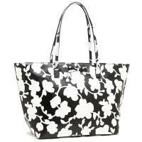 ケイトスペードから最新トートバッグが登場!モノトーンの花柄が全面に施された上品な印象のバッグです*さ...