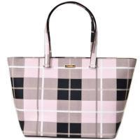 ケイトスペードから日本未発売トートバッグが登場*ピンクカラーでまとめたチェック柄がポイント♪コーデの...