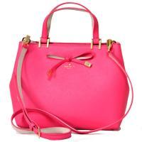 ケイトスペードから新作モデルの2WAYバッグが登場*鮮やかなピンクカラーにフロントにはリボンが添えら...