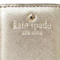 ケイトスペード 財布 katespade コーティングレザー ストライプ 二つ折りカードケース ピンク×ゴールド 4626