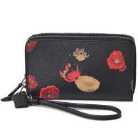 コーチからiPhone専用のコンパクト財布を入荷しました!花柄が上品でシンプルなダブルファスナー式お...