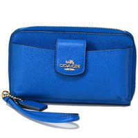 コーチから上品なスマホ対応のブルー系の財布をが登場!人気のiPhone6/5S/5対応したジップ型タ...