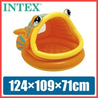 プール INTEX ベビープール 子供用プール  屋根付き 魚 キャラクター 家庭用